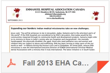 Fall 2013 EHA Canada Newsletter