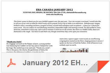 January 2012 EHA Canada Newsletter