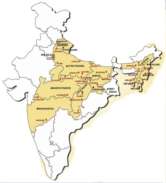 Location of EHA Hospitals