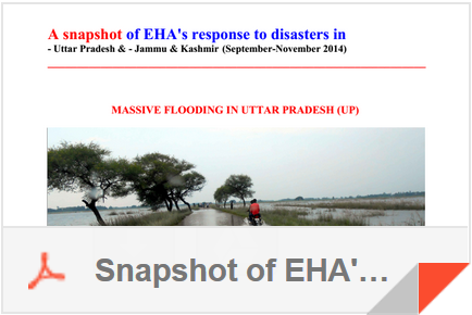 Fall 2014 EHA's response to disasters in Uttar Pradesh, Jammu, and Kashmir
